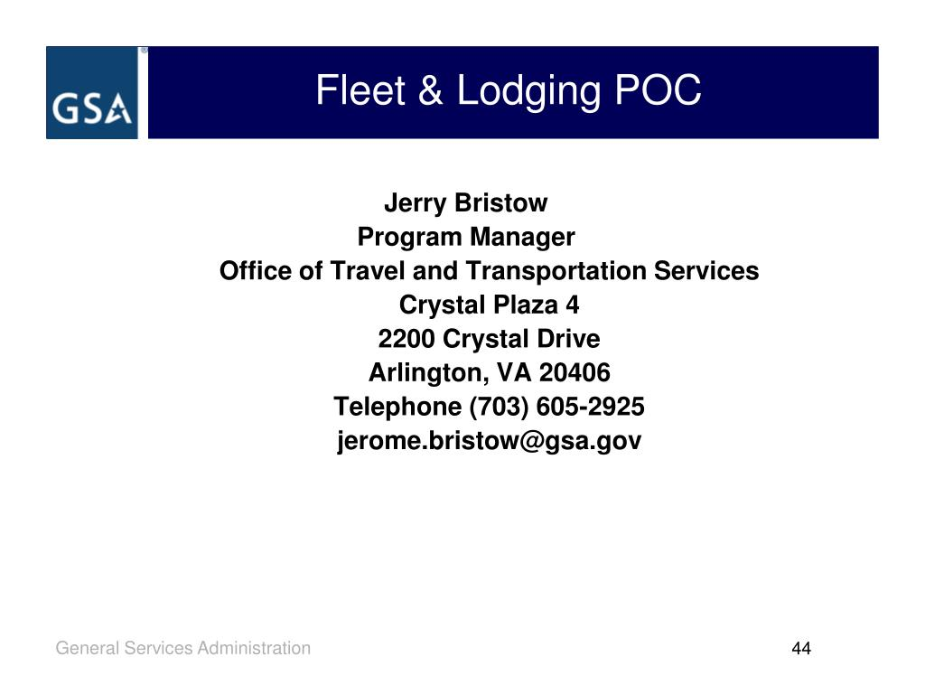 Fleet & Lodging POC