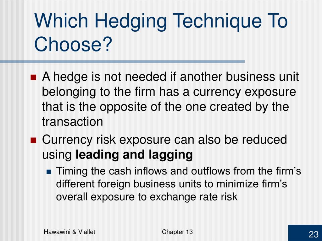 Which Hedging Technique To Choose?