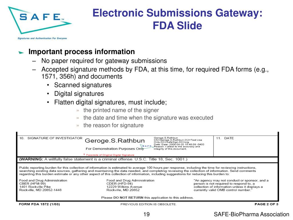 Electronic Submissions Gateway: