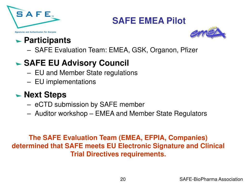 SAFE EMEA Pilot