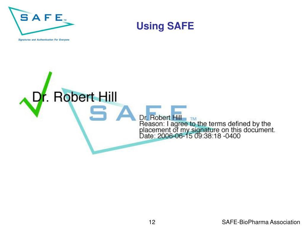 Using SAFE