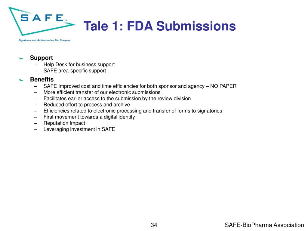 Tale 1: FDA Submissions