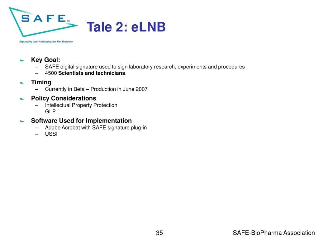 Tale 2: eLNB