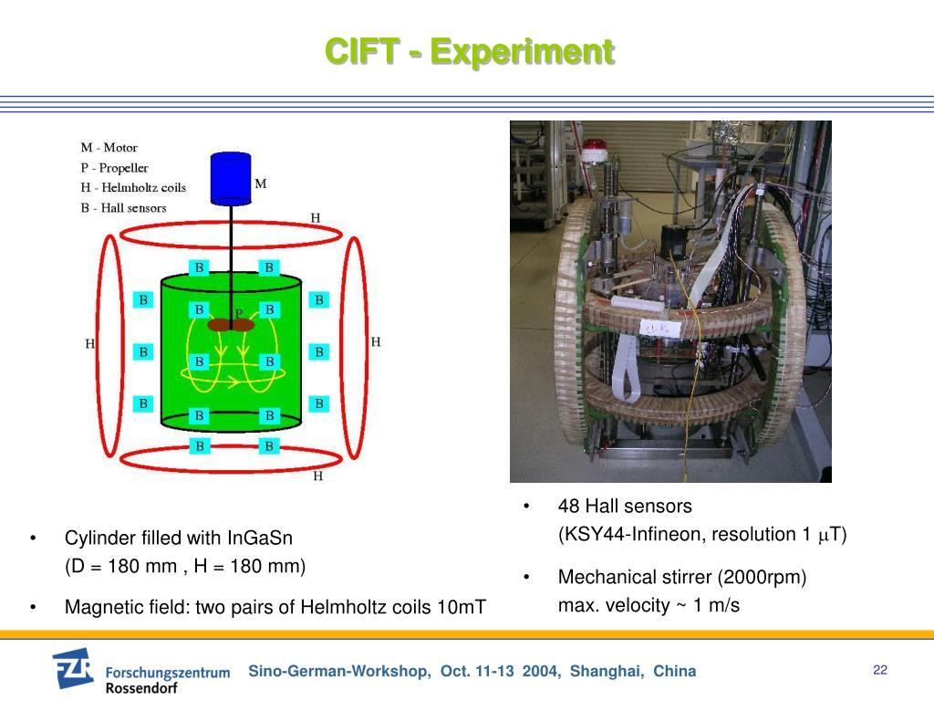CIFT - Experiment