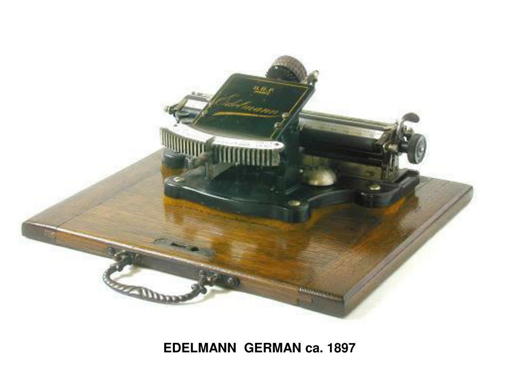 EDELMANN GERMAN ca. 1897