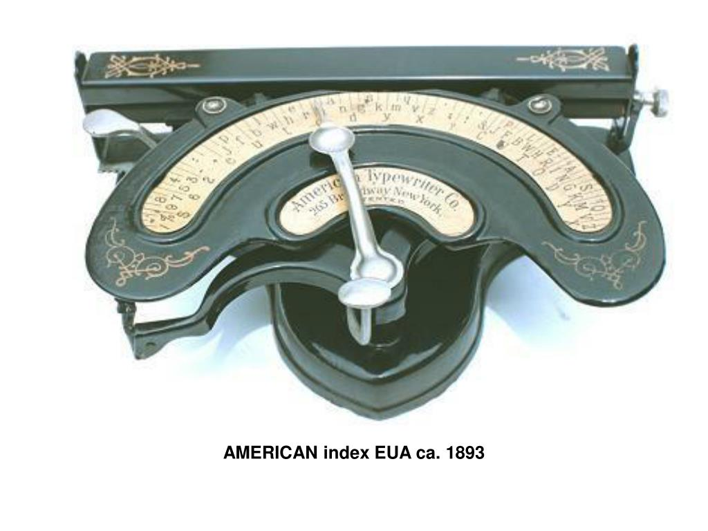 AMERICAN index EUA ca. 1893