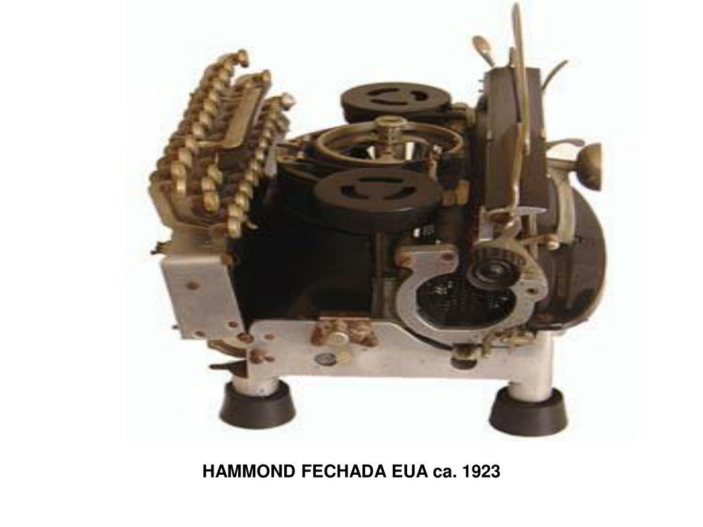 HAMMOND FECHADA EUA ca. 1923