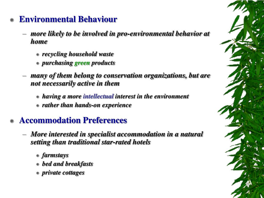 Environmental Behaviour