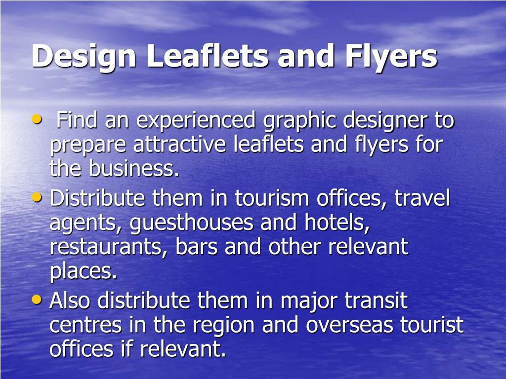 Design Leaflets and Flyers