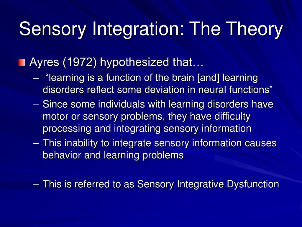 what is sensory integration theory