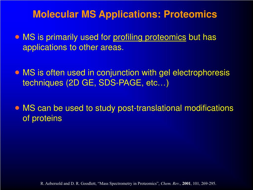 Molecular MS Applications: Proteomics