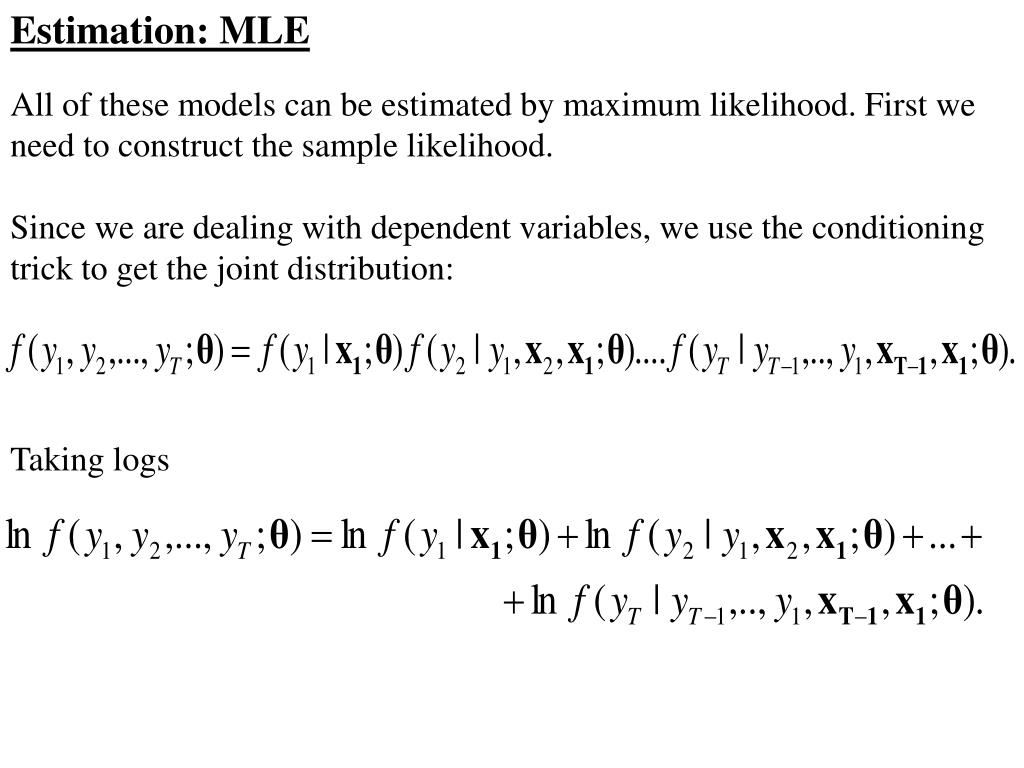 Estimation: MLE