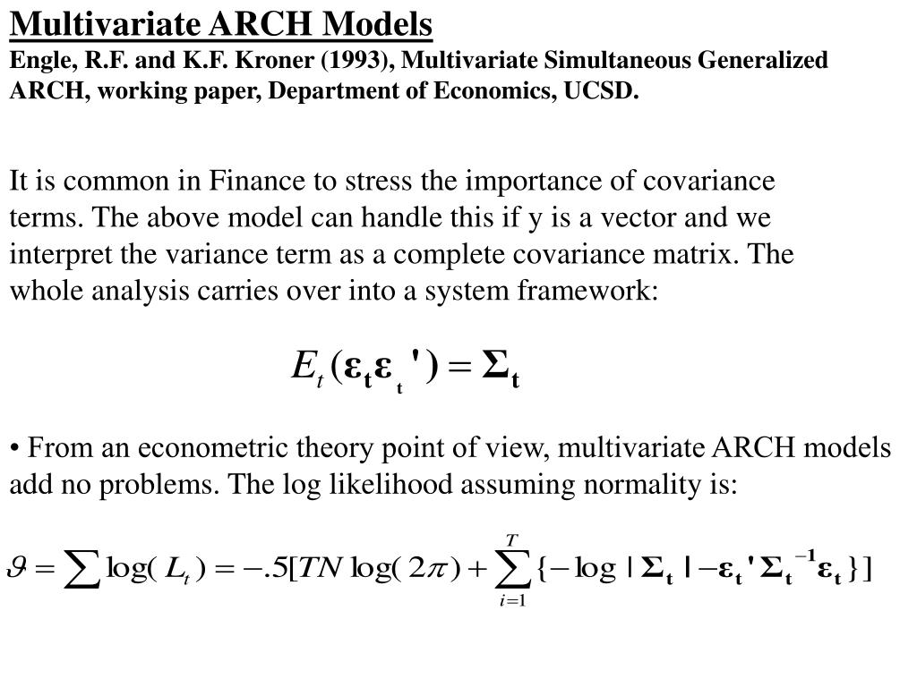 Multivariate ARCH Models