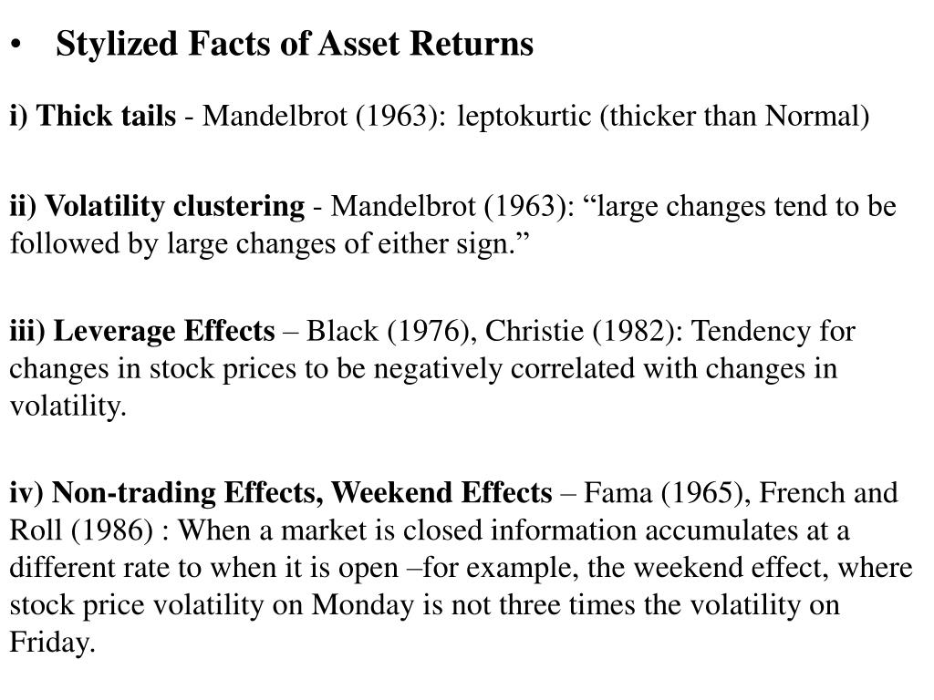 Stylized Facts of Asset Returns