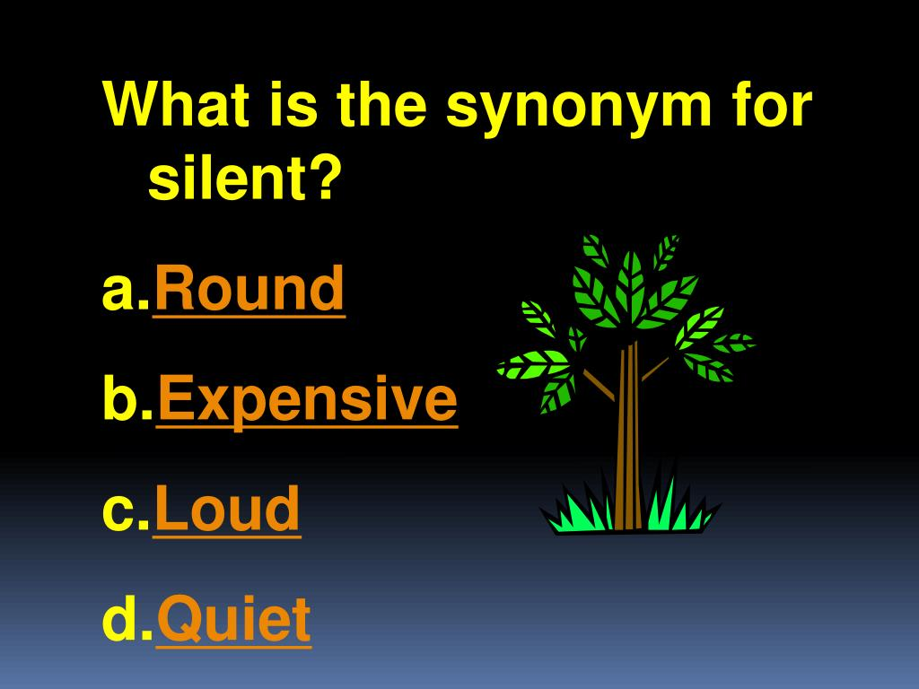 What is the synonym for silent?