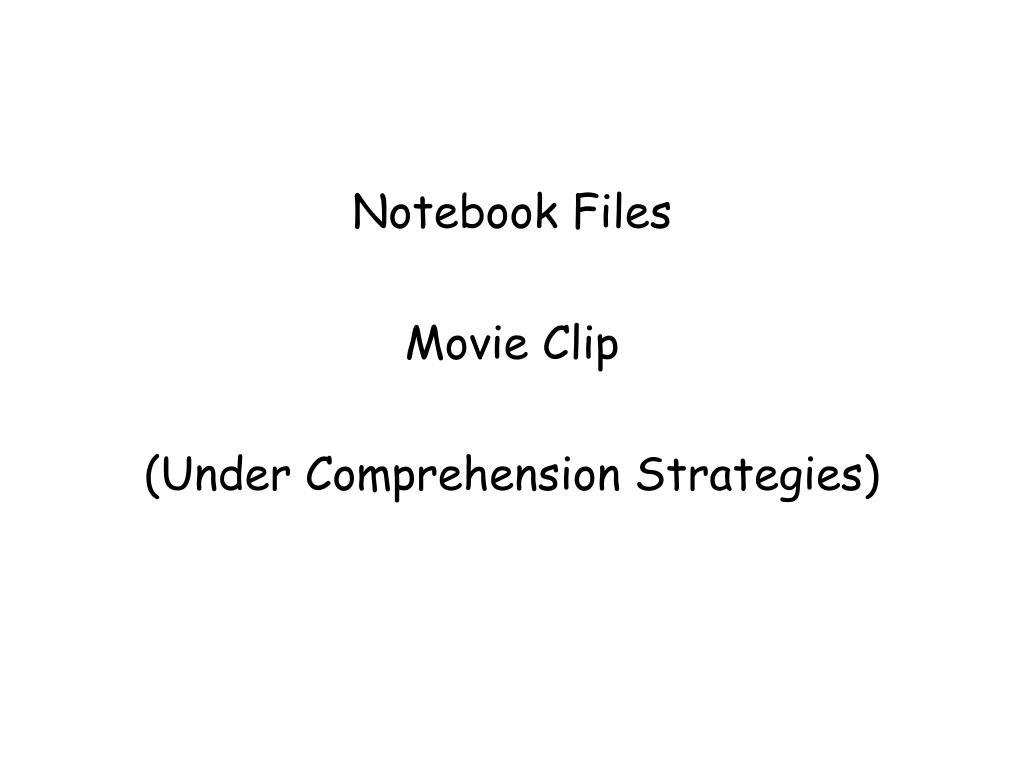 Notebook Files