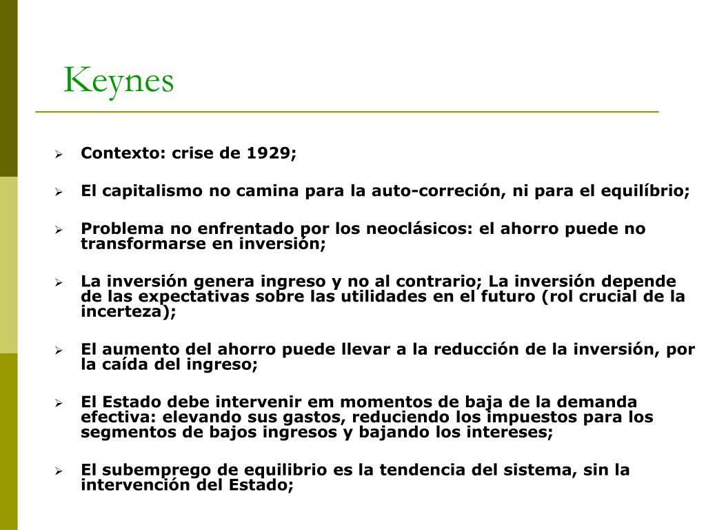 Contexto: crise de 1929;