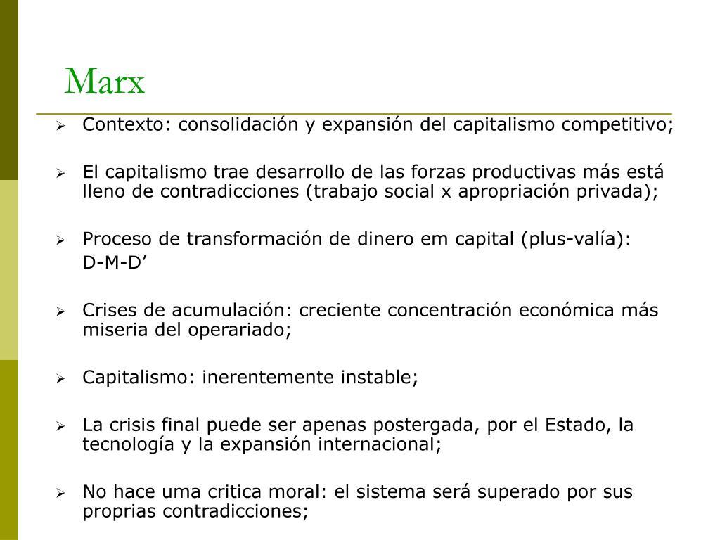 Contexto: consolidación y expansión del capitalismo competitivo;