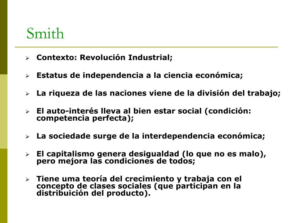 Contexto: Revolución Industrial;