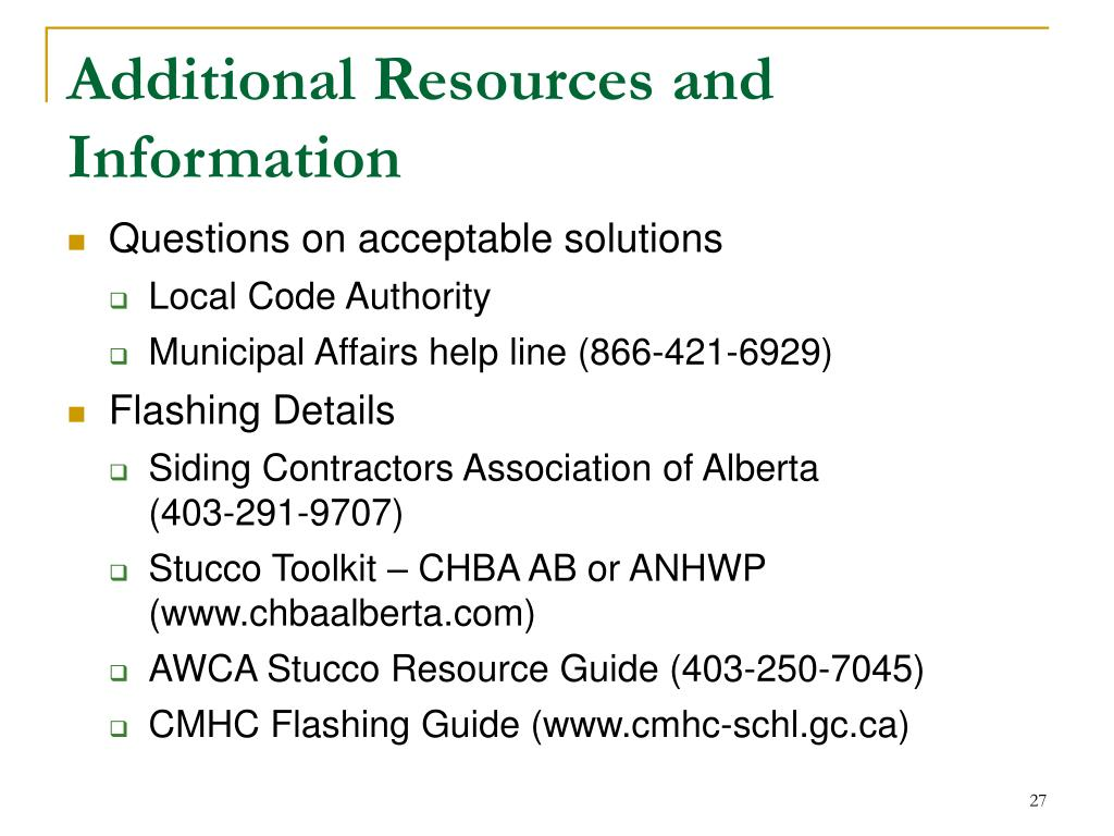 Ppt 2006 Building Code Flashing Changes Amp Challenges