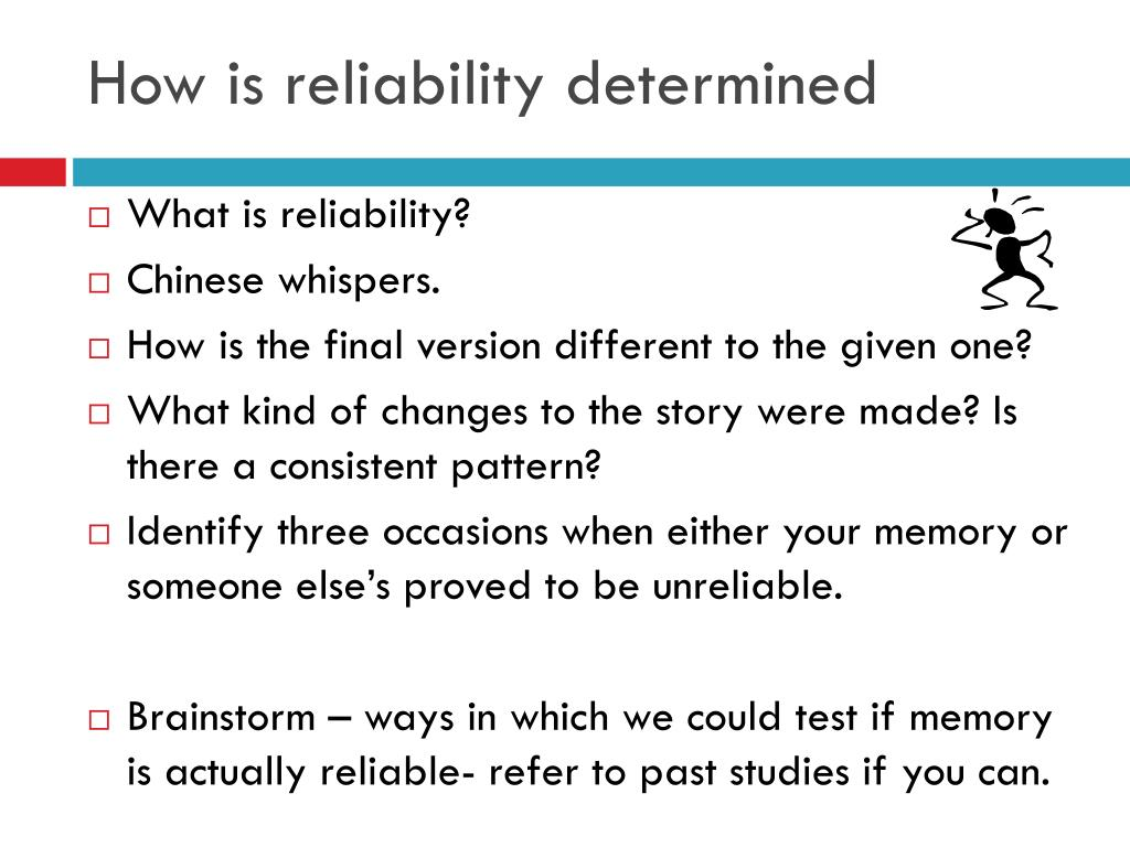 What is reliability in research