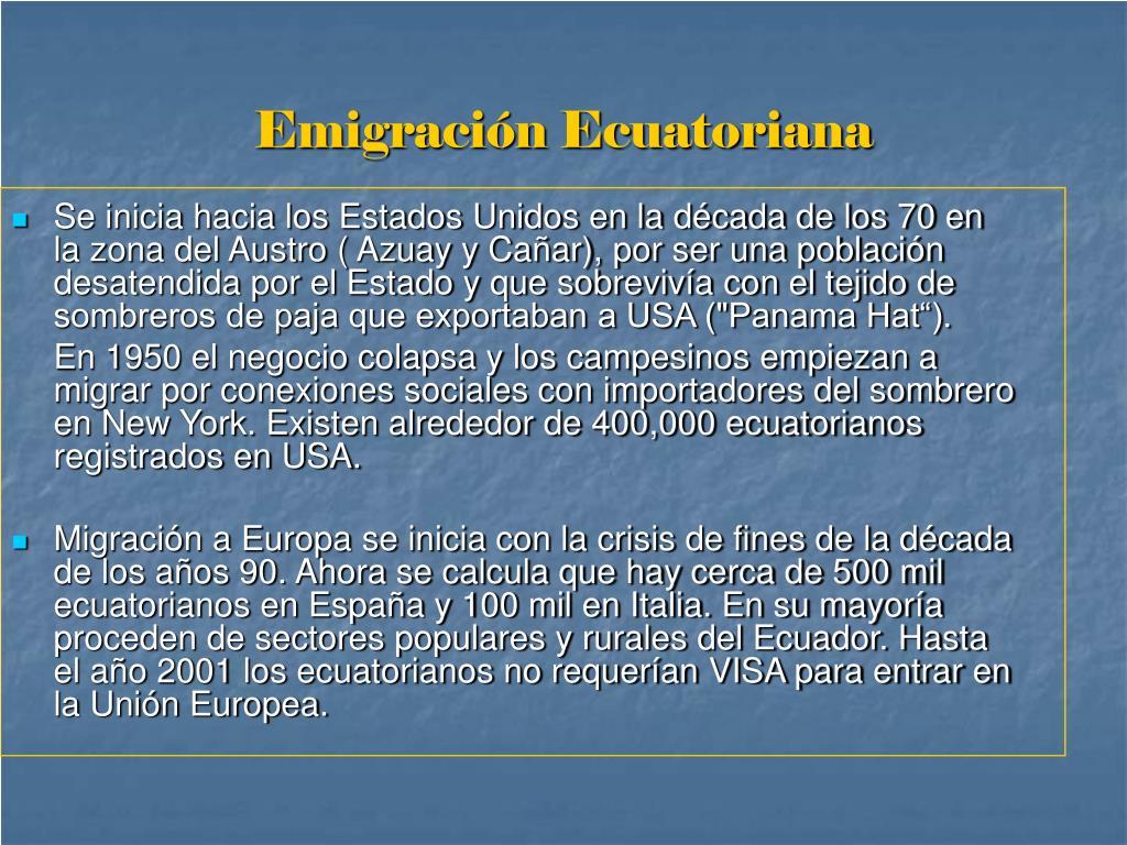 Emigración Ecuatoriana