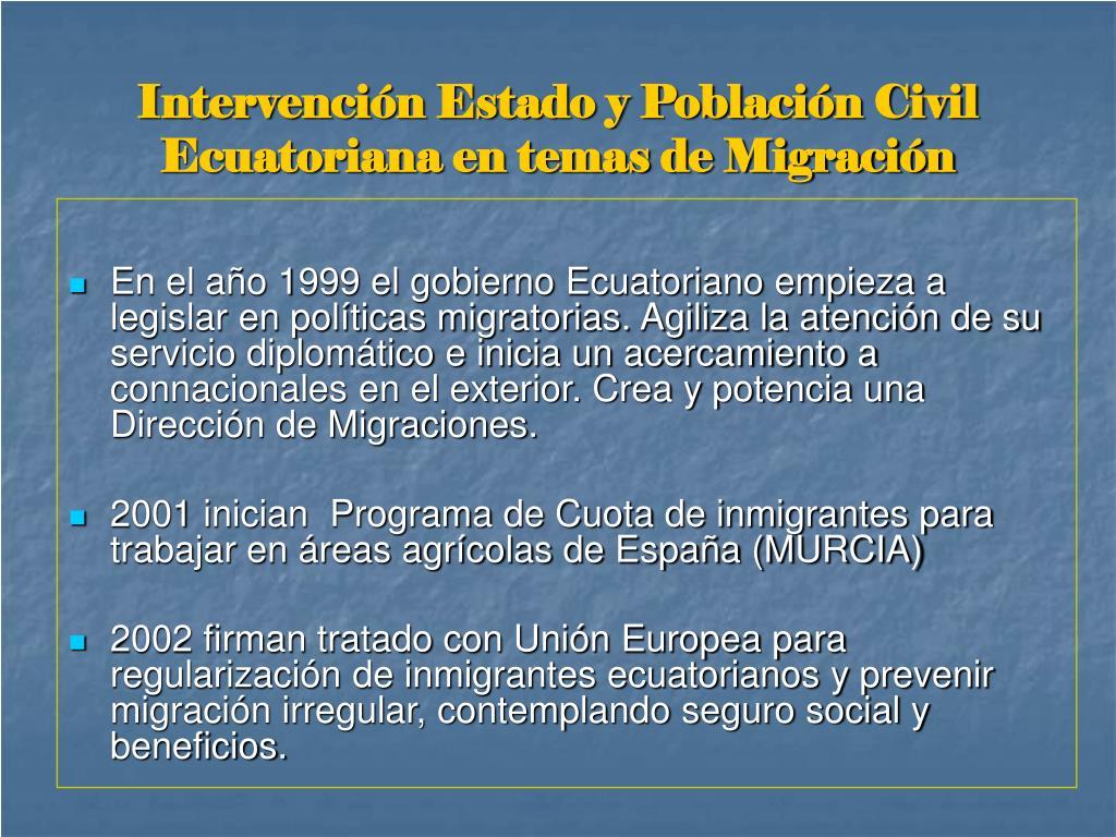 Intervención Estado y Población Civil