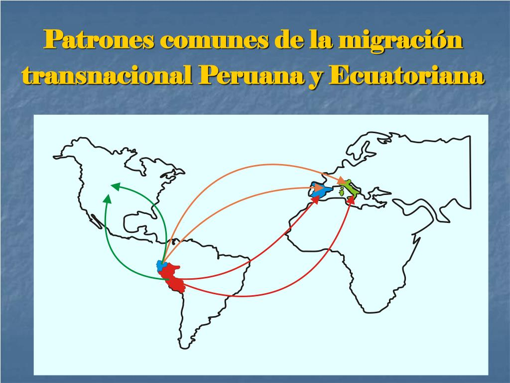 Patrones comunes de la migración transnacional Peruana y Ecuatoriana
