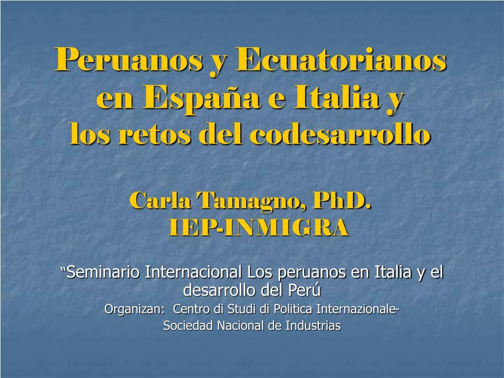 Peruanos y Ecuatorianos en España e Italia y