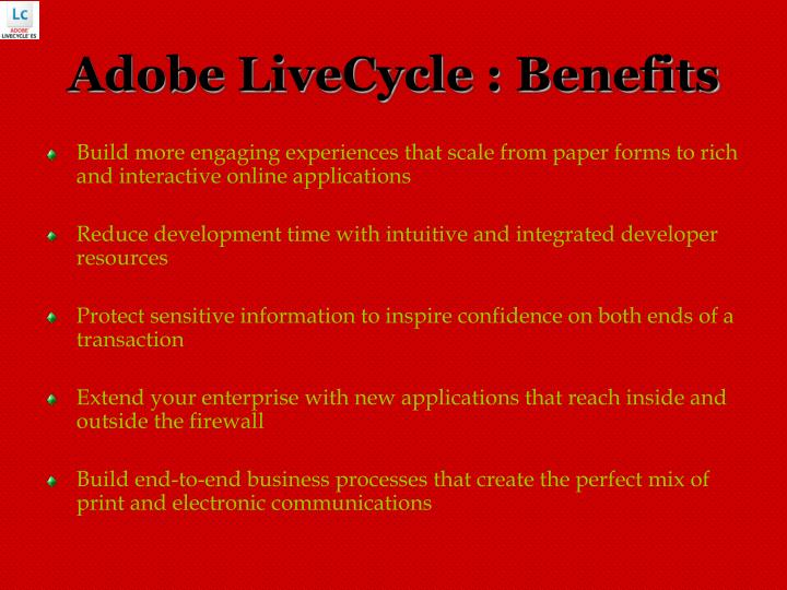 Adobe livecycle benefits
