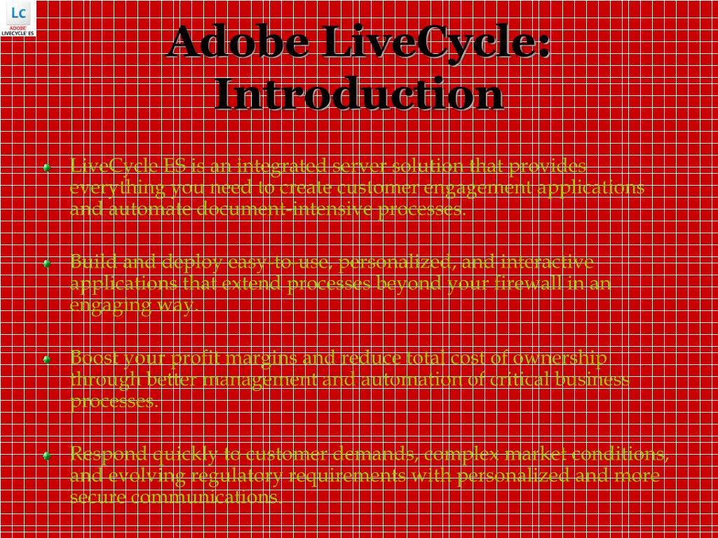 Adobe LiveCycle: Introduction
