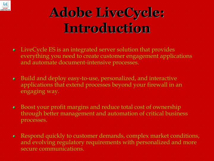 Adobe livecycle introduction