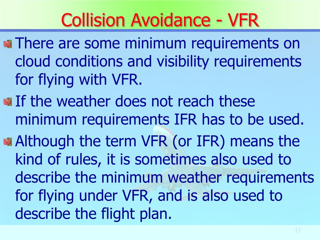Collision Avoidance - VFR