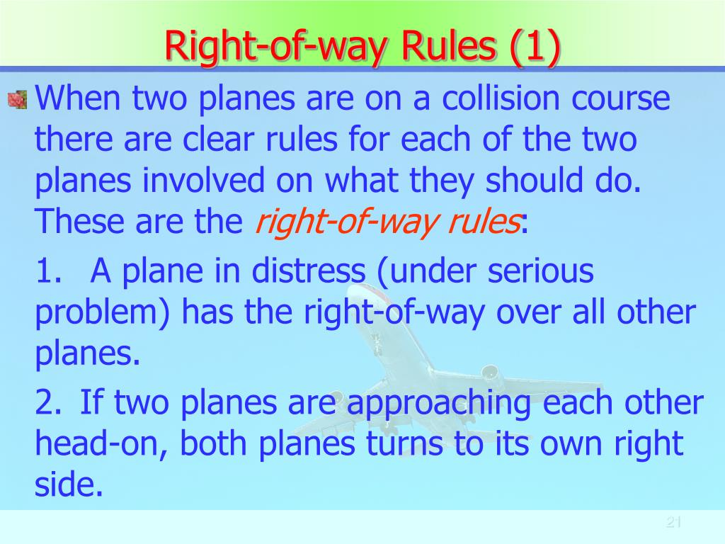 Right-of-way Rules (1)