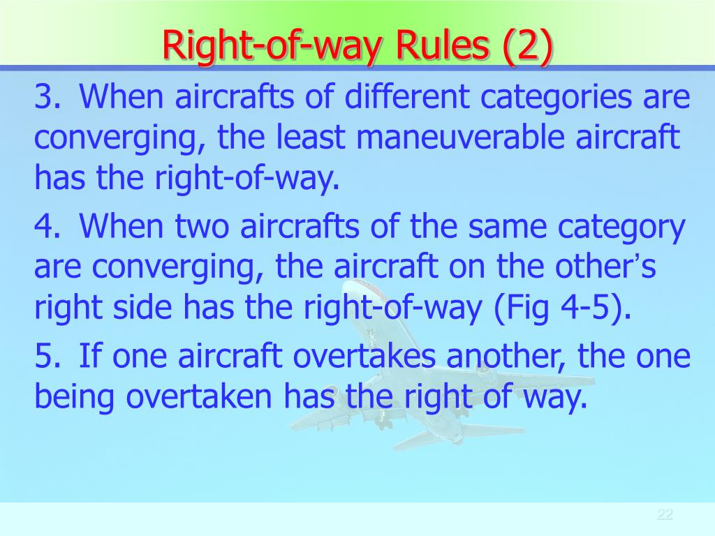 Right-of-way Rules (2)