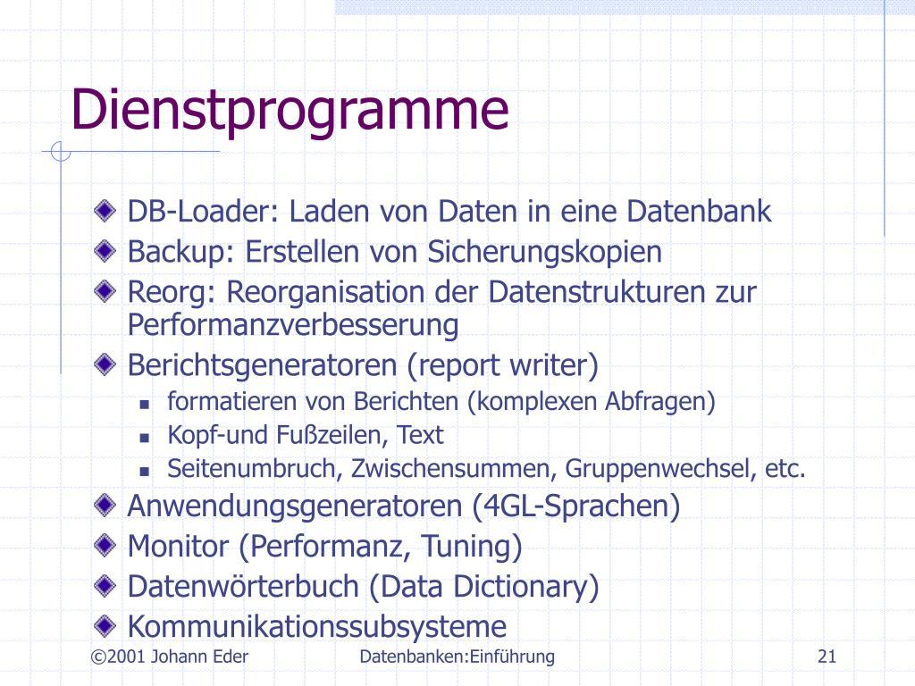Dienstprogramme