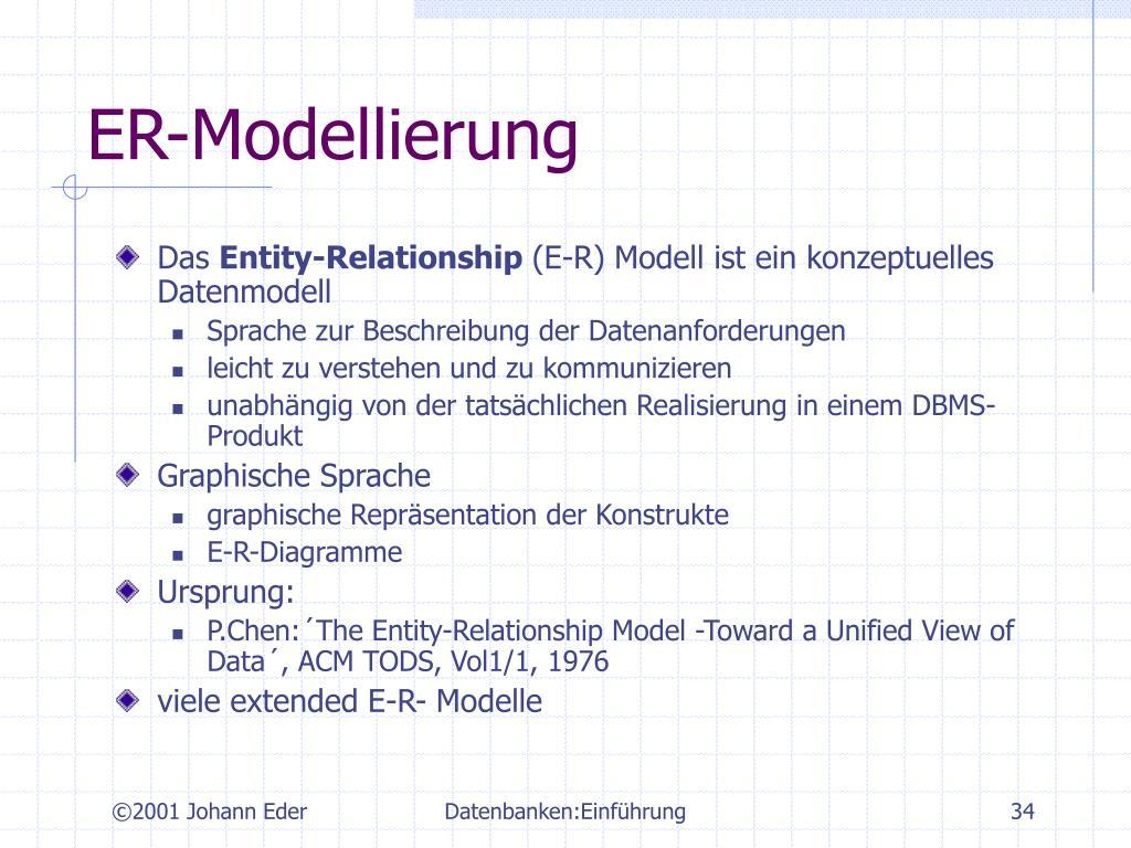 ER-Modellierung