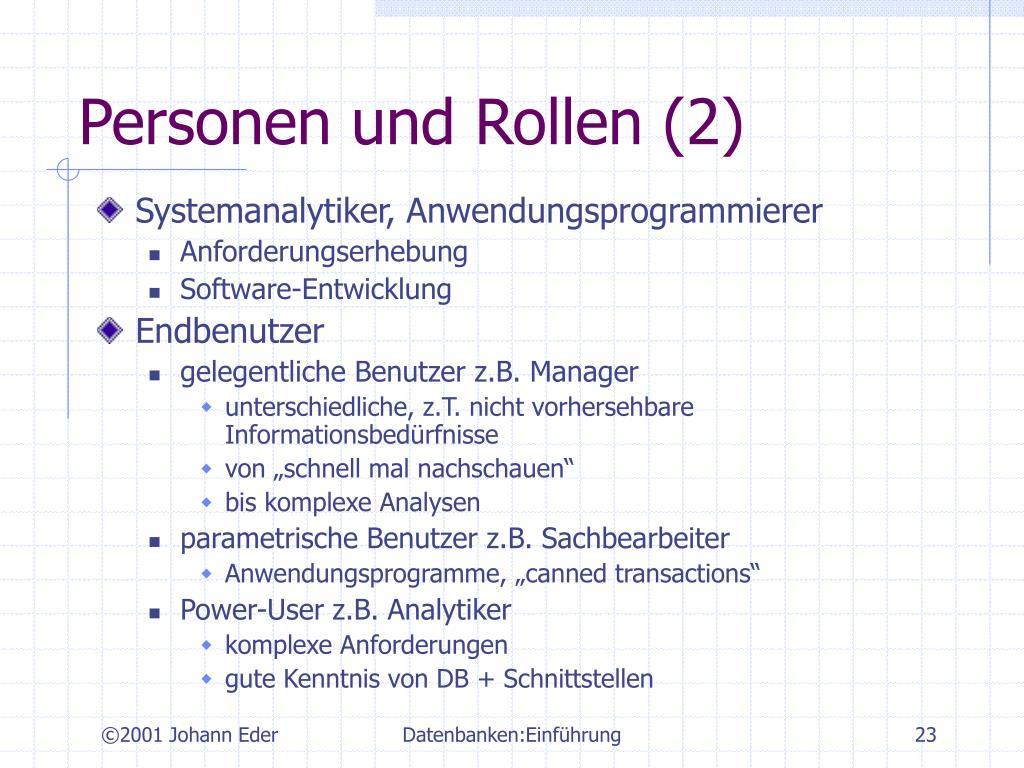 Personen und Rollen (2)