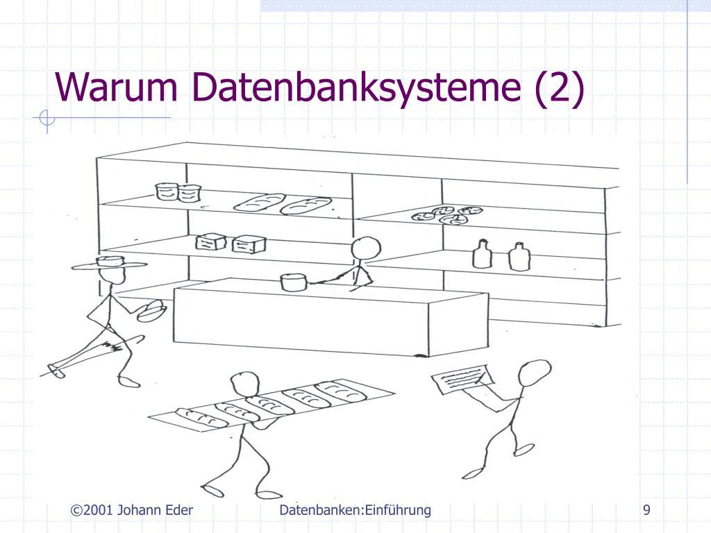 Warum Datenbanksysteme (2)