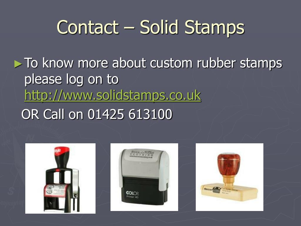 Contact – Solid Stamps