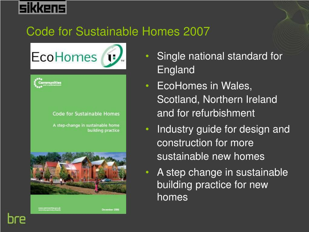 Code for Sustainable Homes 2007