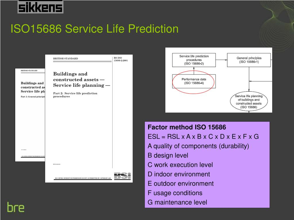 ISO15686 Service Life Prediction