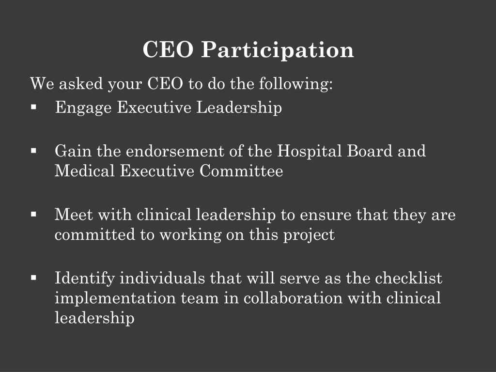 CEO Participation