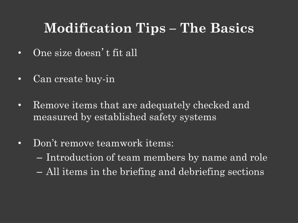 Modification Tips – The Basics