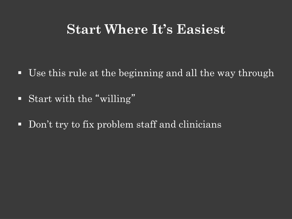 Start Where It