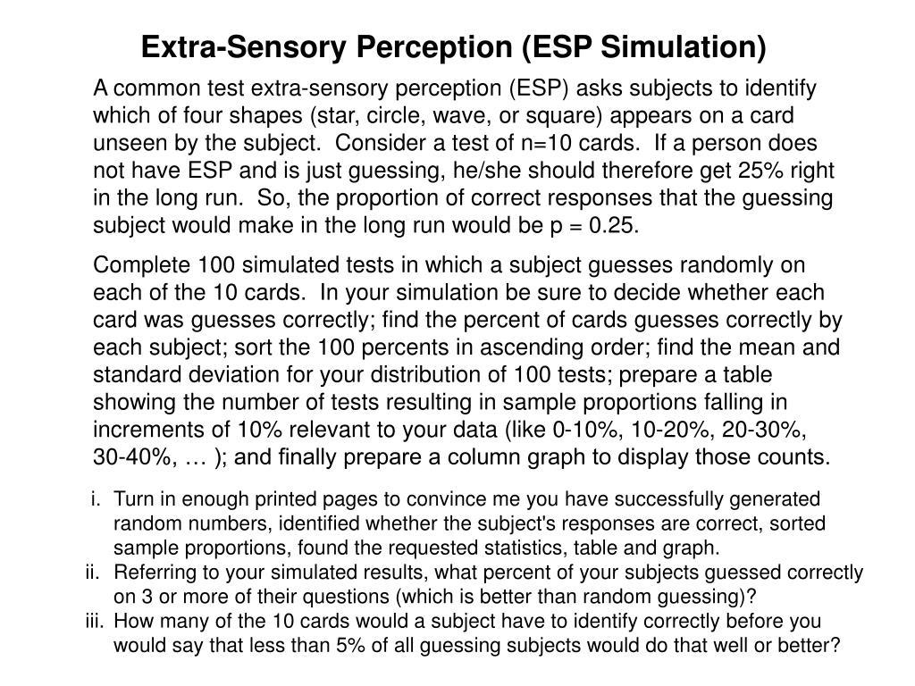 Extra-Sensory Perception (ESP Simulation)