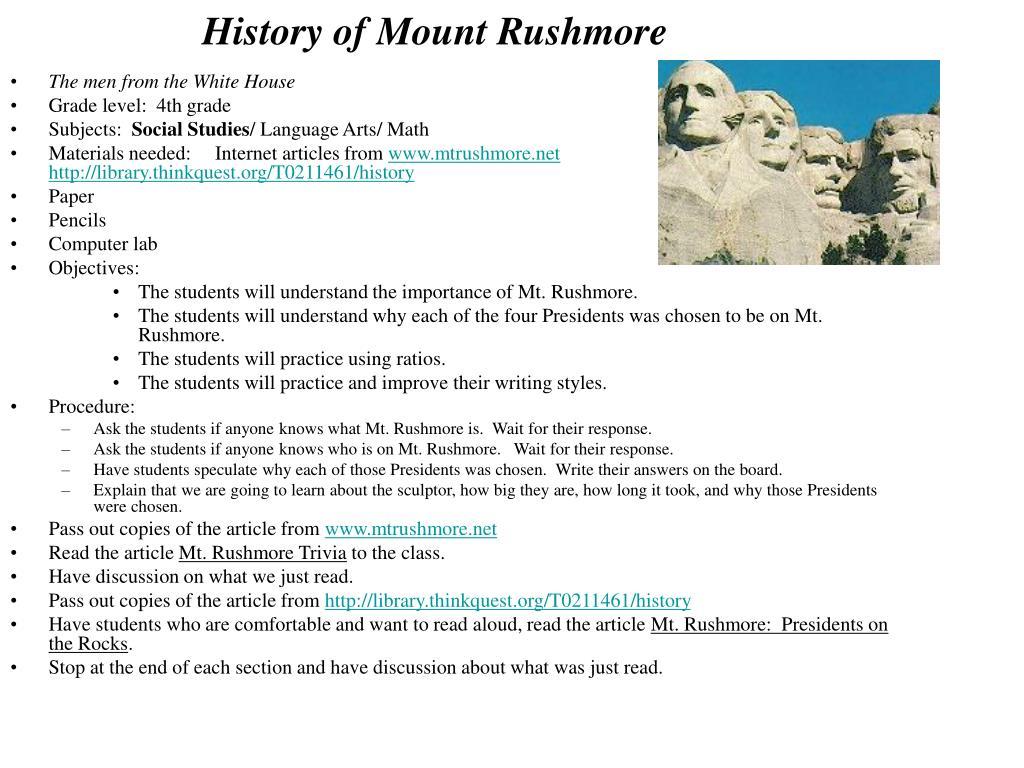 History of Mount Rushmore