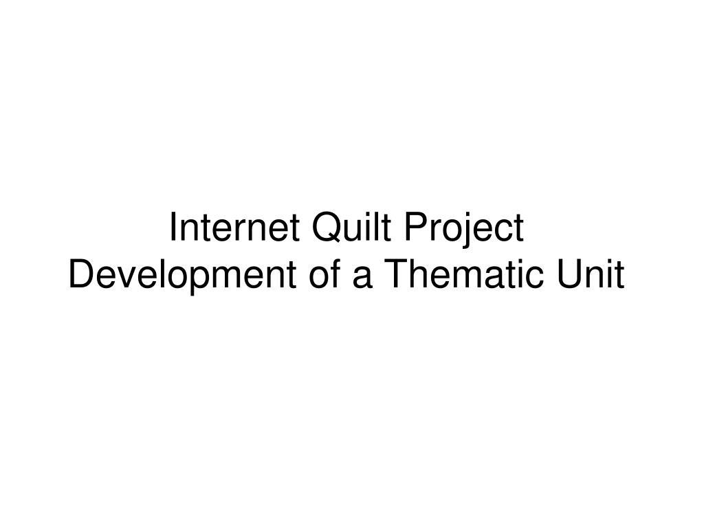 Internet Quilt Project