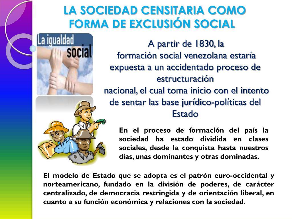 LA SOCIEDAD CENSITARIA COMO FORMA DE EXCLUSIÓN SOCIAL