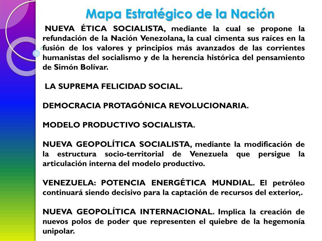 Mapa Estratégico de la Nación
